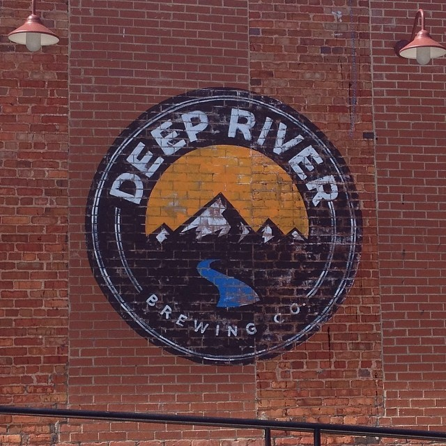 New signage for @deep_river_brewing in Clayton. Their beer is no joke. Do yourself a favor. #NCBeer