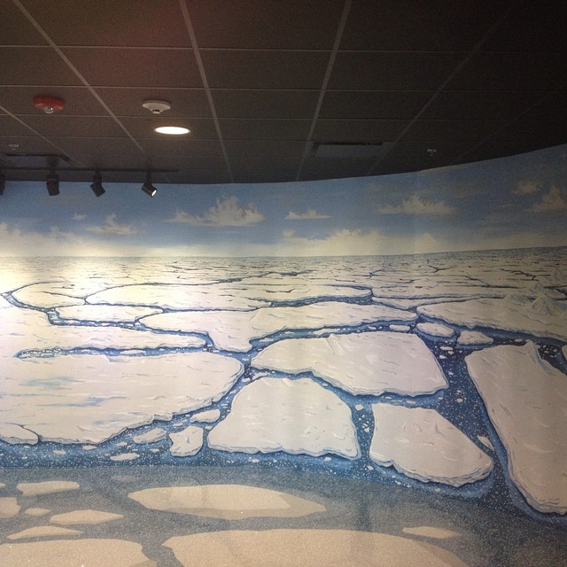 More detail #murals #nczoo #polarbears #arctic #icecaps #climatechange #zoo #nature