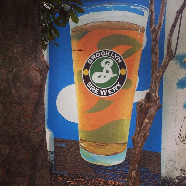 Tall cool one for the find folks over @brooklynbrewery @brooklynbreweryswe #brooklynbrewery #beermural #robertplant #biglog #oprah #thirstynow #happyhalloweenie